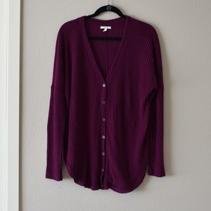 Maurices Long Sleeve Purple Top Large